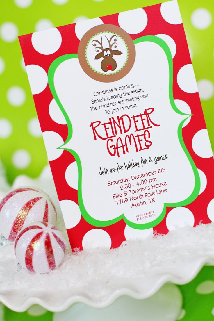 1000+ Ideas About Christmas Party Invitations On Pinterest