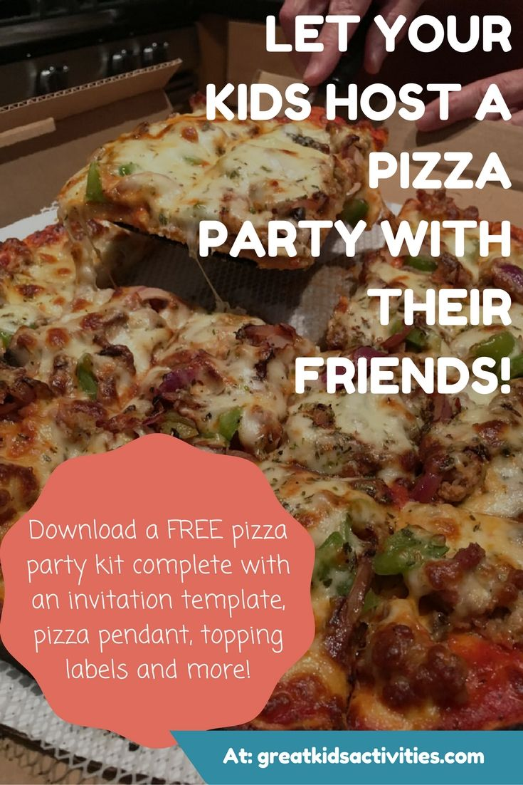 Beautiful Pizza Party Invitation Template Ideas - Example Resume ...