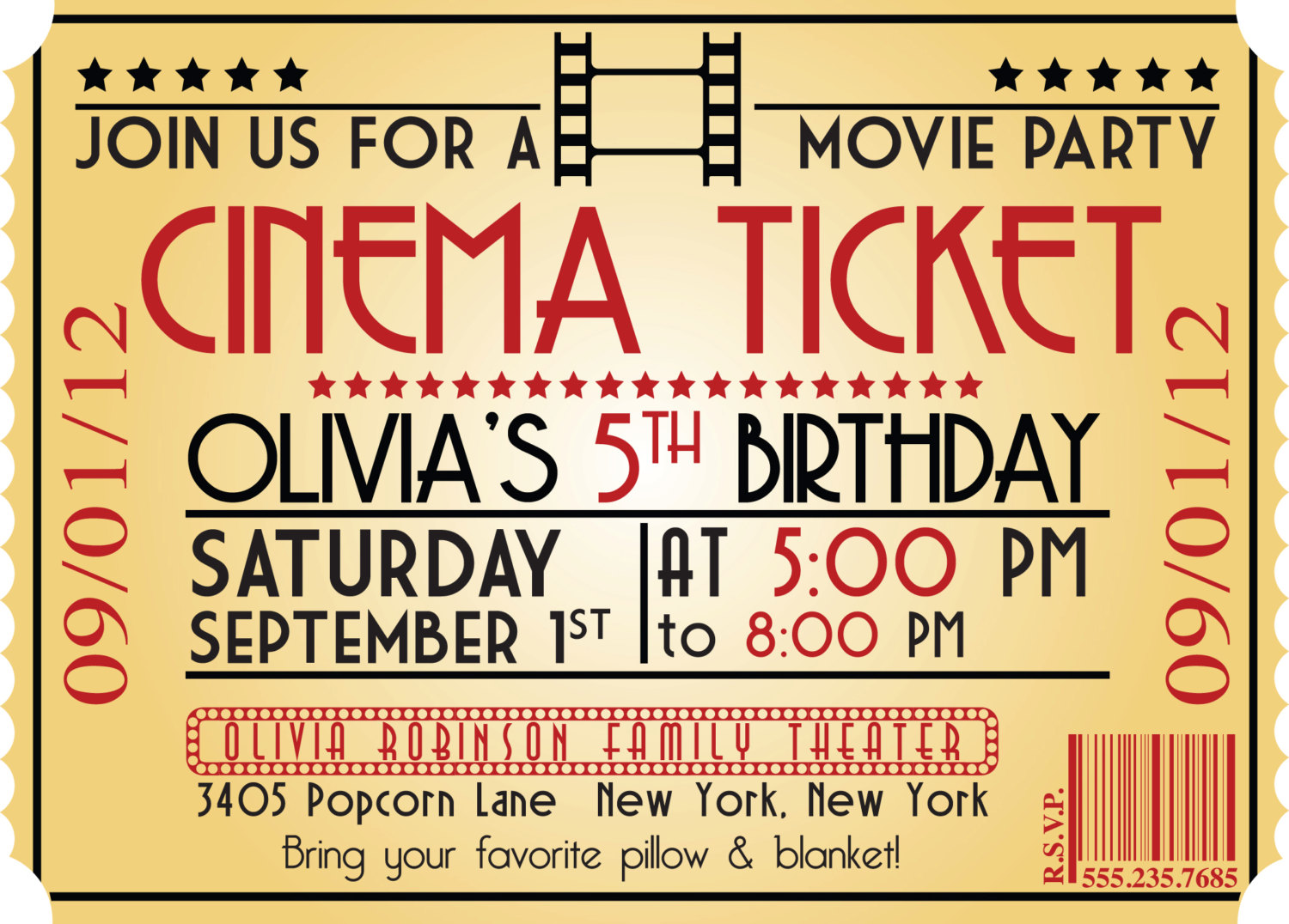 Doc856378 Free Printable Ticket Style Invitations Doc600486 – Free Printable Ticket Style Invitations