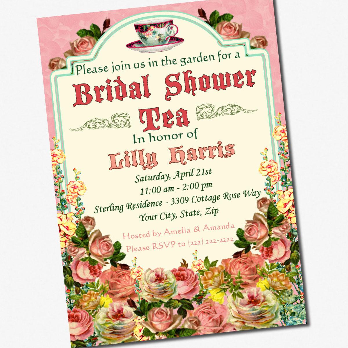 1000+ Images About Vintage Tea Party Bridal Shower On Pinterest