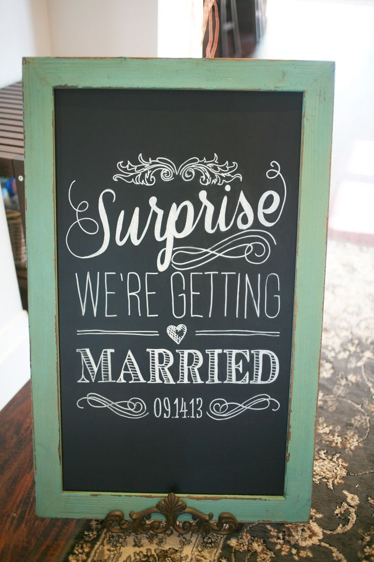 17 Best Ideas About Surprise Engagement Party On Pinterest