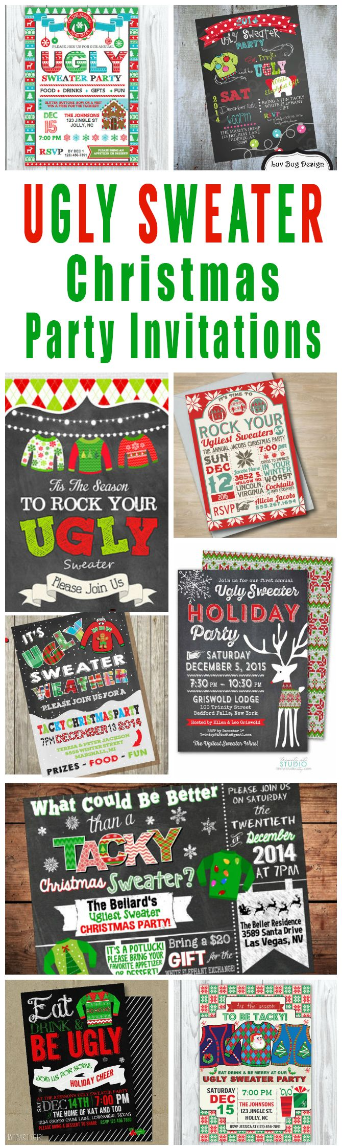 17+ Ideas About Christmas Party Invitations On Pinterest