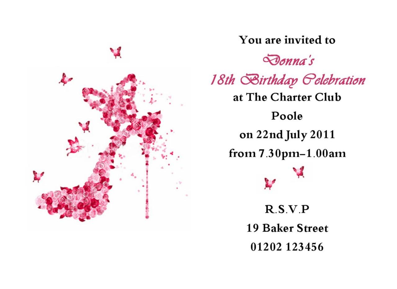 18th Birthday Invitations Templates