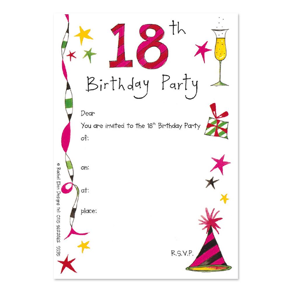 18th Birthday Party Invitations 18th Birthday Party Invitations