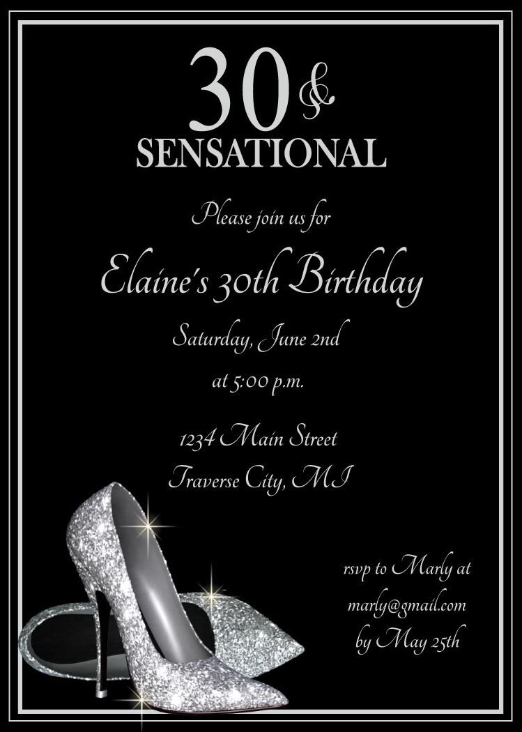 25th Birthday Party Invitations