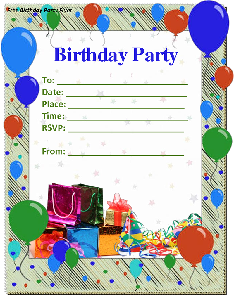 doc.#736588: birthday invitation free template – 17 best images, Party invitations