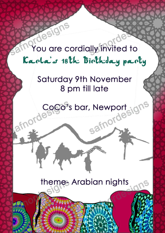 Arabian Invitation