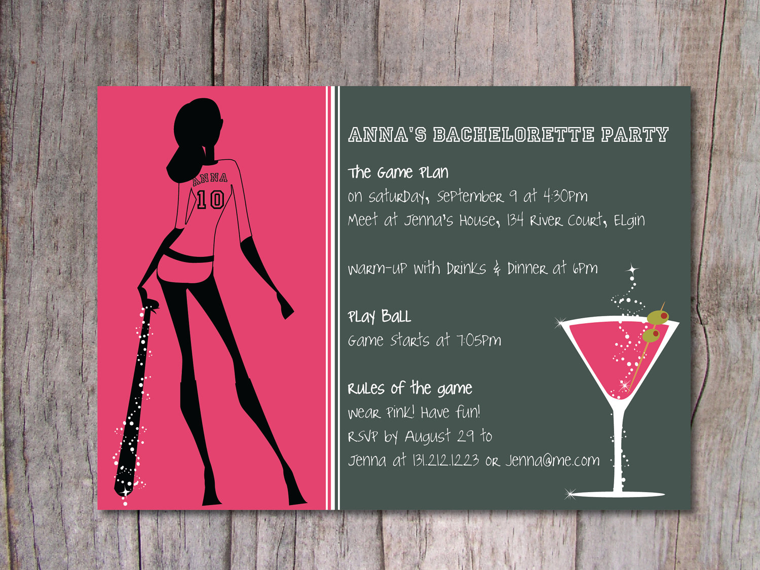Magnificent Bachelorette Party Invitations Etsy Gallery - Invitation ...