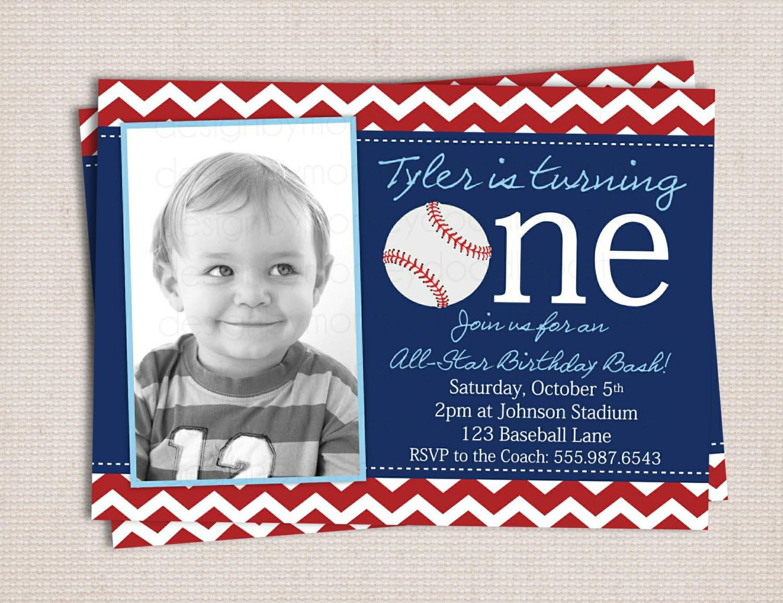 Baseball Themed Birthday Party Invitations - Mickey Mouse ...
