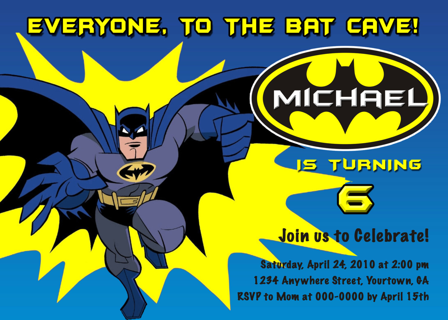 Batman Party Invitation - Mickey Mouse Invitations Templates
