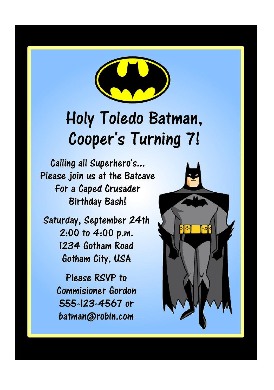 Batman Party Invitation - Mickey Mouse Invitations Templates