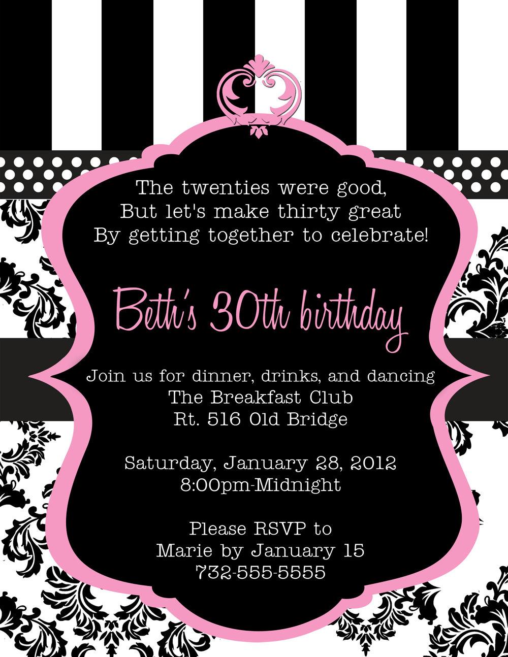 Birthday Invite Template Free
