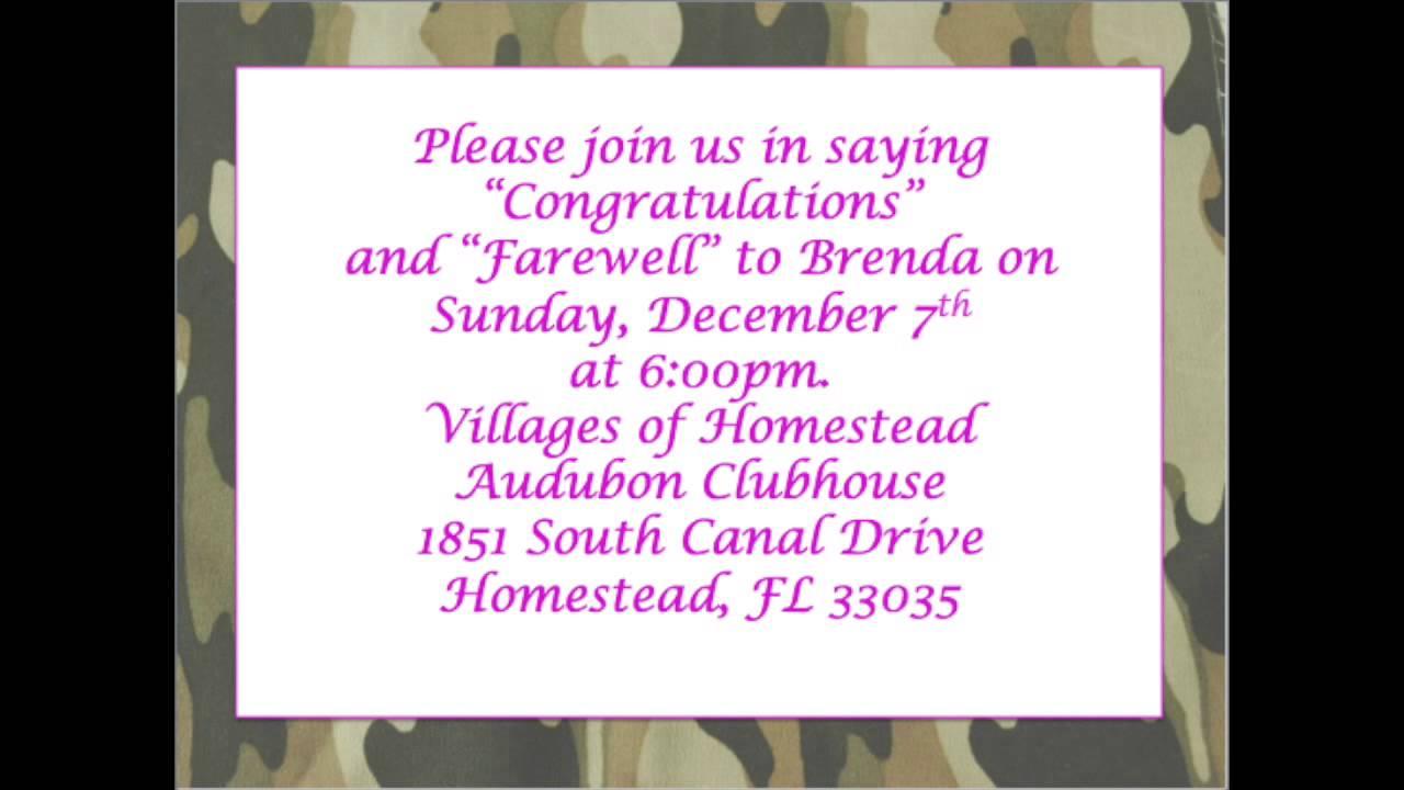 ... Brendau0027s Farewell Party Invitation: Invitation Card Matter For Farewell  ...  Invitation Card For Get Together