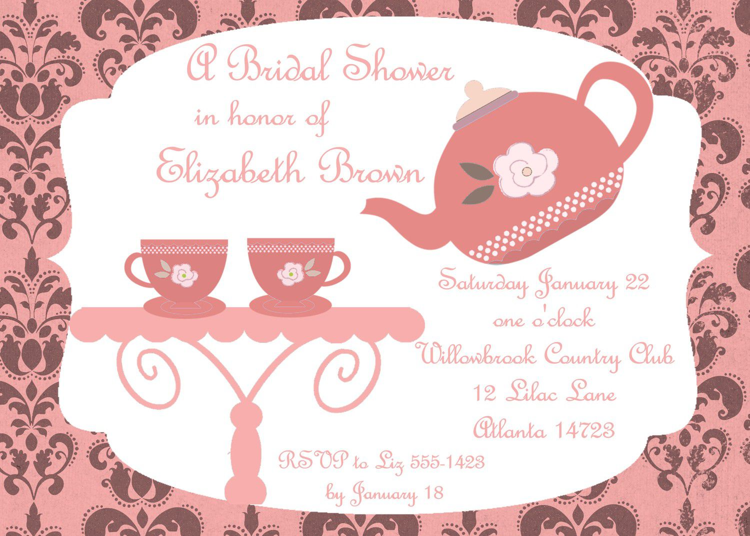 vintage tea party invitations  mickey mouse invitations templates, Party invitations