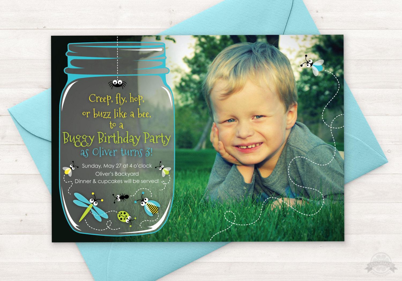 Bug Birthday Party Invitation Bug Party By Lemonadedesignstudio