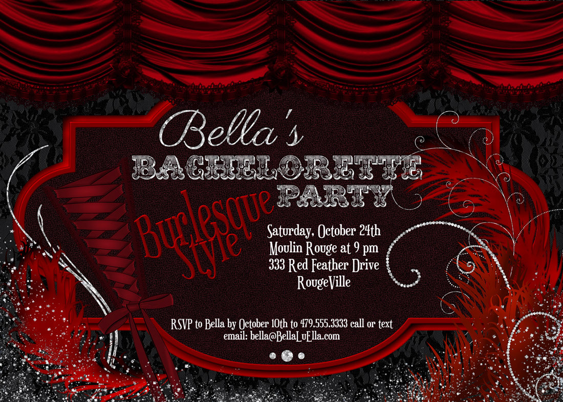 Burlesque Party Invitations - Mickey Mouse Invitations Templates