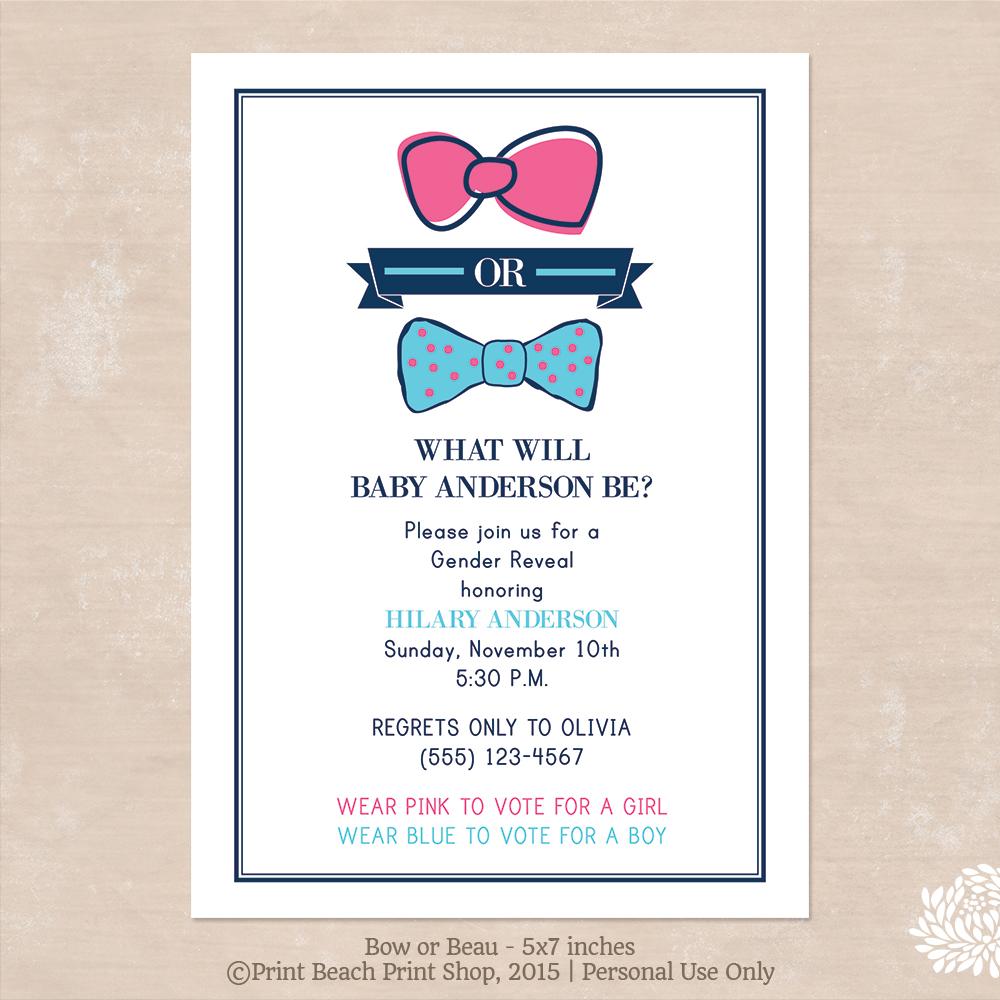 Free Printable Gender Reveal Party Invitations – gangcraft.net
