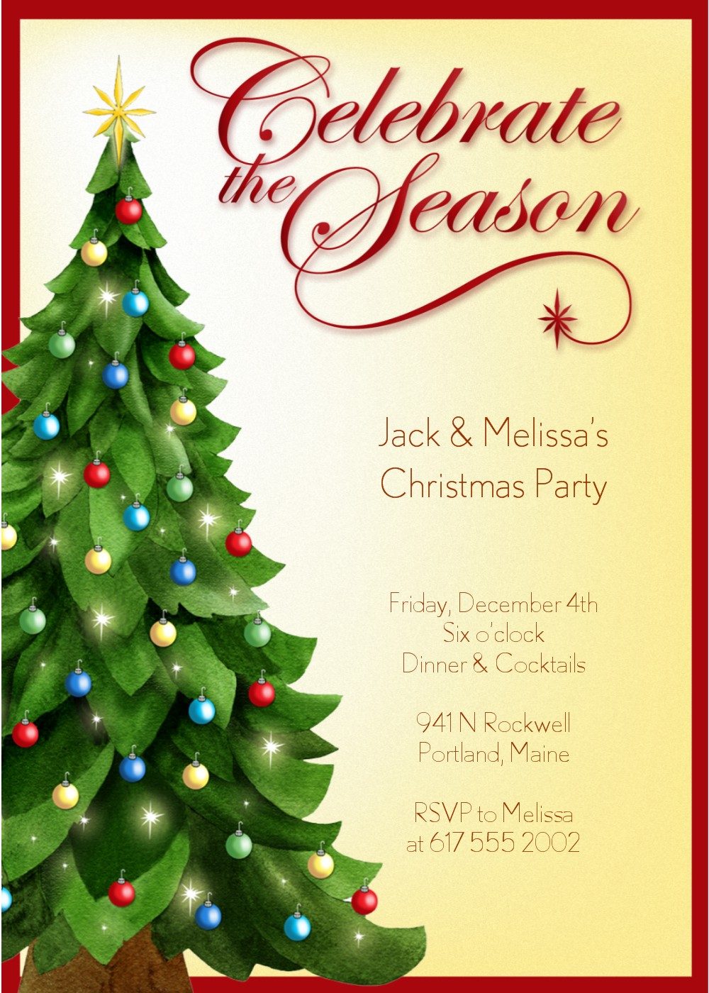 Cheap Christmas Party Invitations