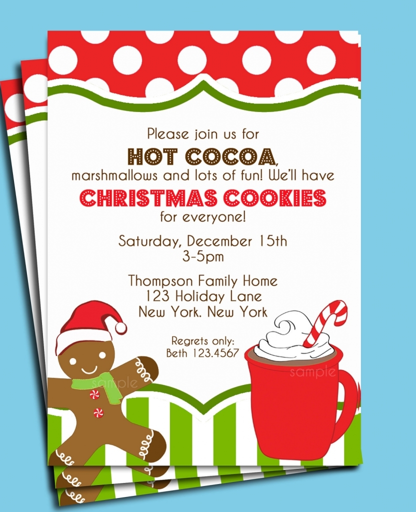 Christmas Cookie Decorating Party Cookie Party Invitation Wording