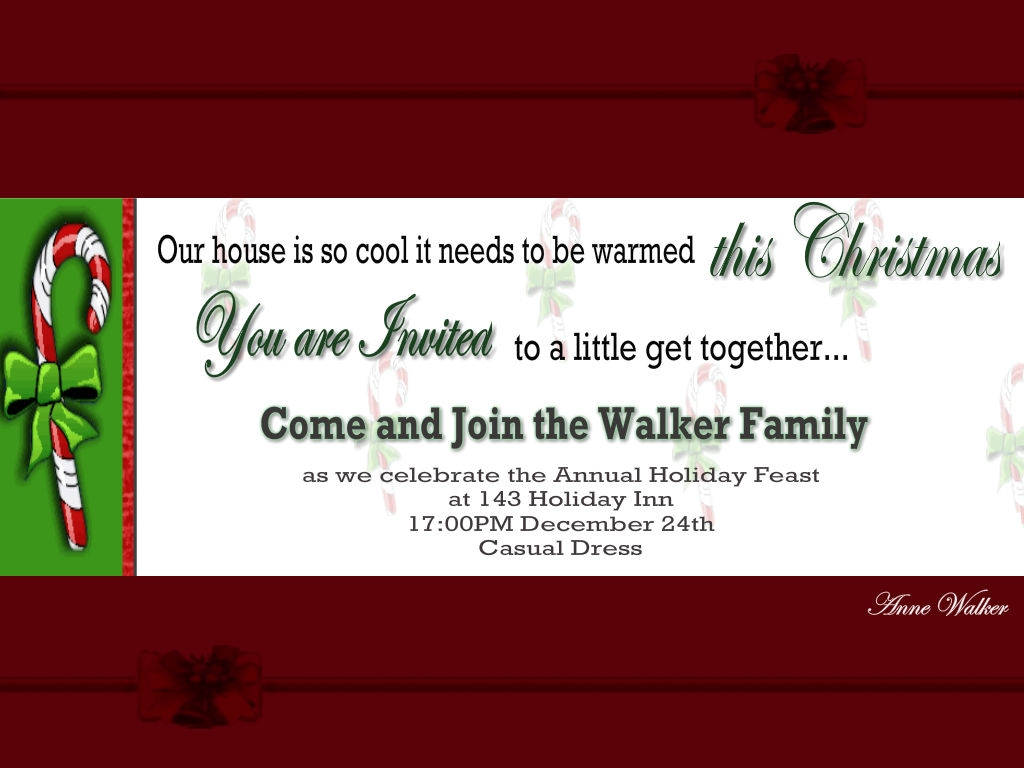 Christmas Invitation Wording Ideas