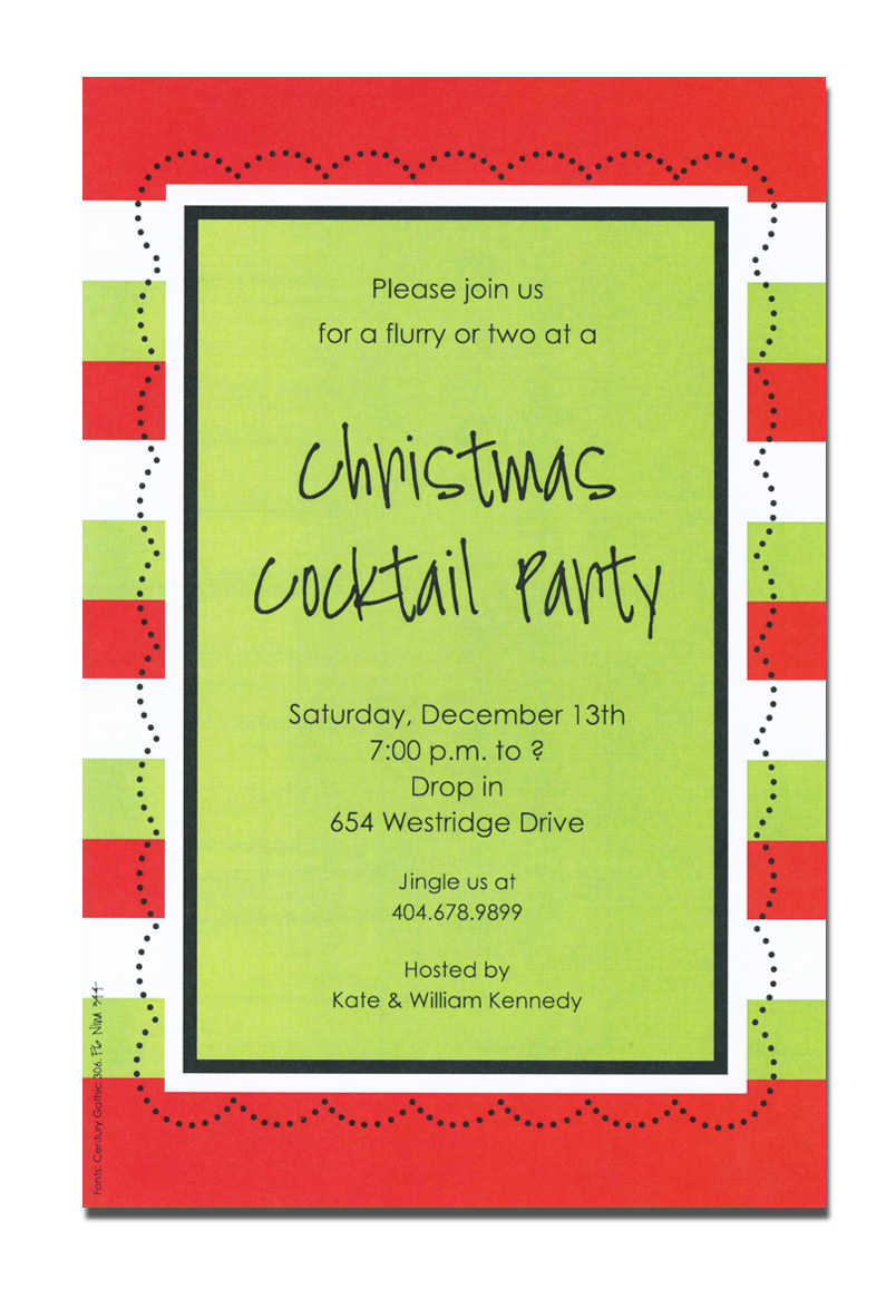 Christmas Party Invitation Poem