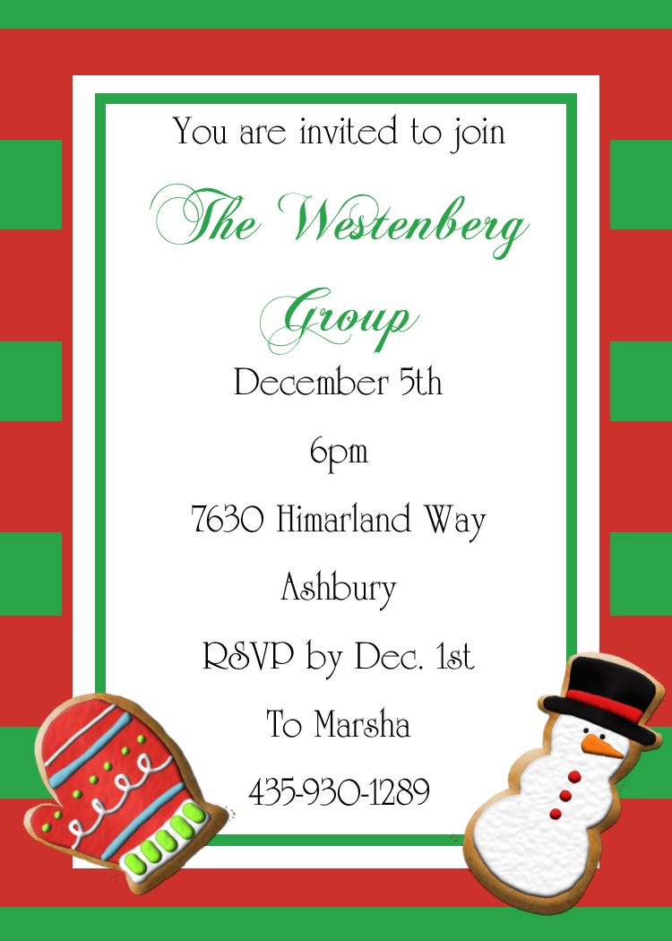 Christmas Tea And Cookie Exchange Party Invitations 2017