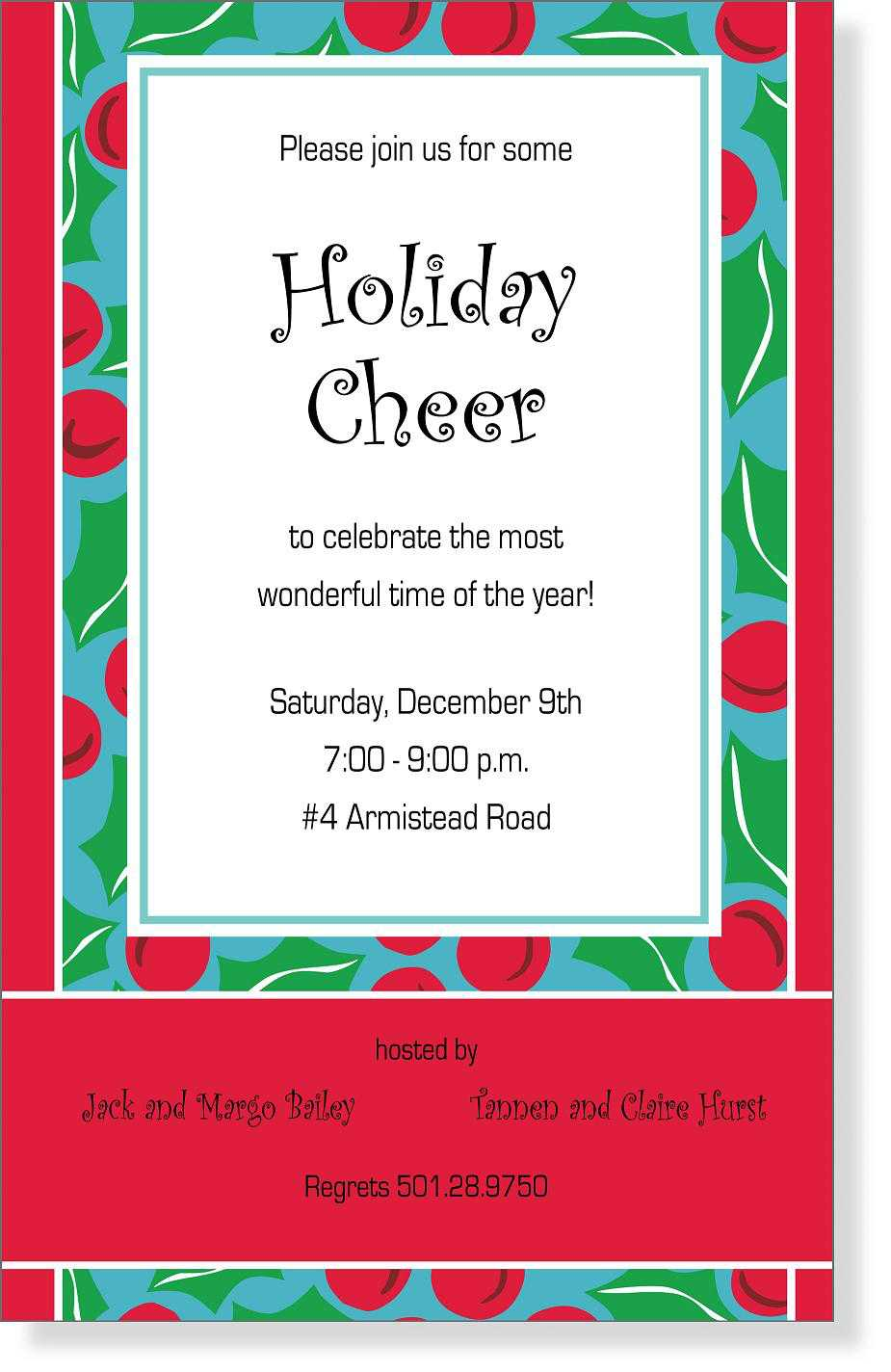 Clever Holiday Party Invitation Wording