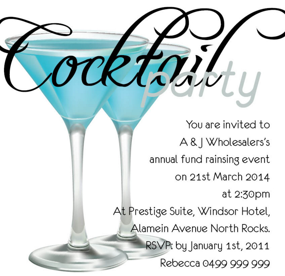 cocktail party invitation template cocktail party invitation – Cocktail Party Invitation Template
