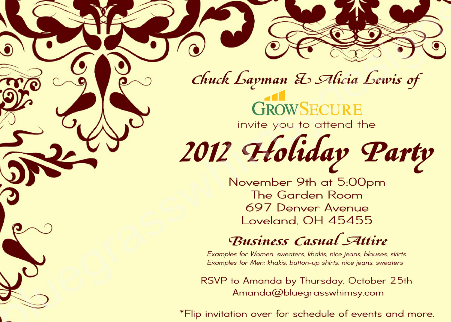 Corporate Holiday Party Invitation Wording Ideas