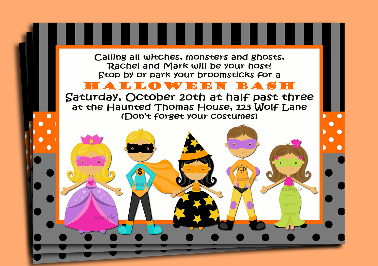 Halloween Potluck Invitation Wording for nice invitation design