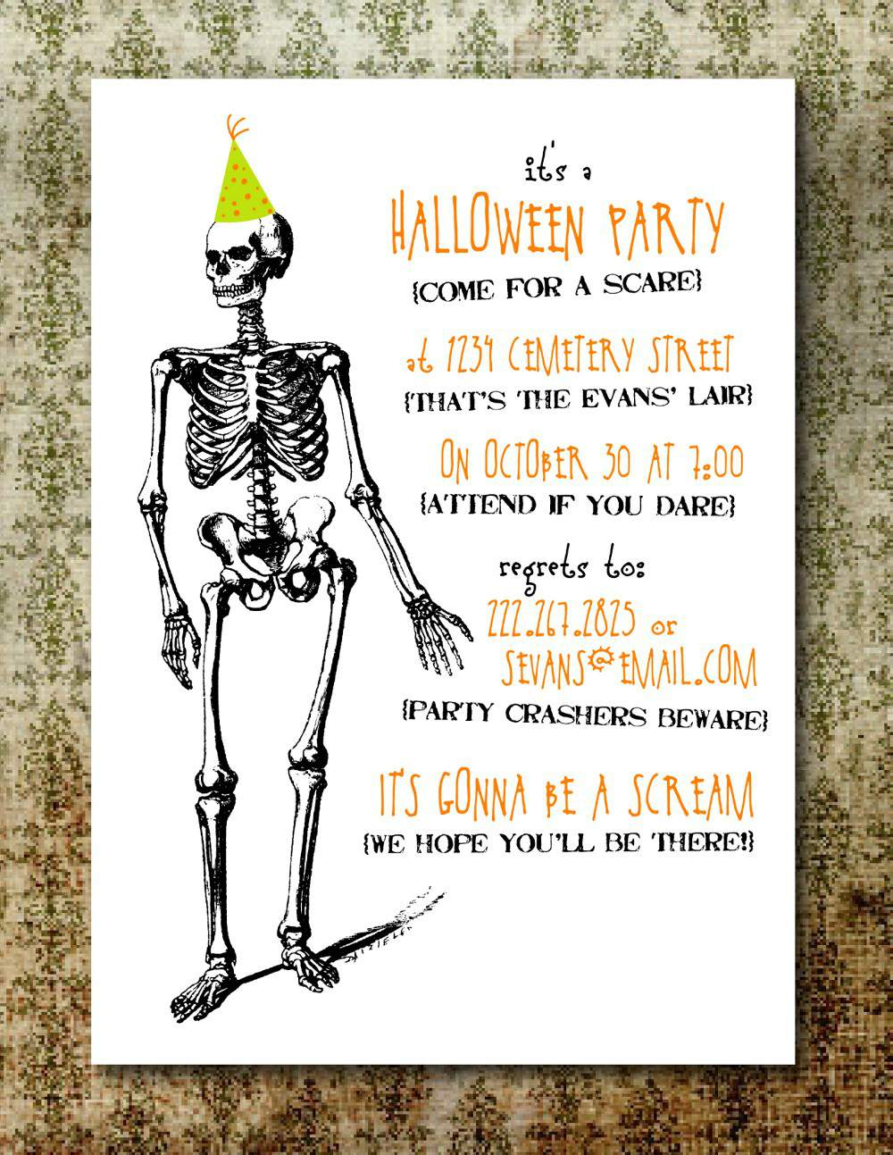 Free Printable Halloween Party Invitations For Adults - Mickey ...