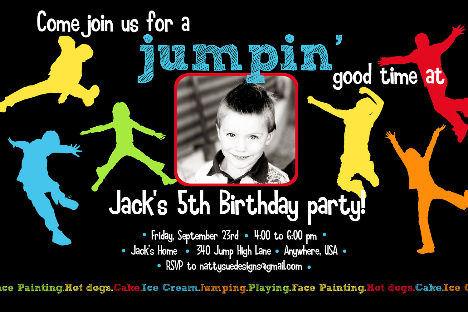 Jump Party Invitations - Mickey Mouse Invitations Templates
