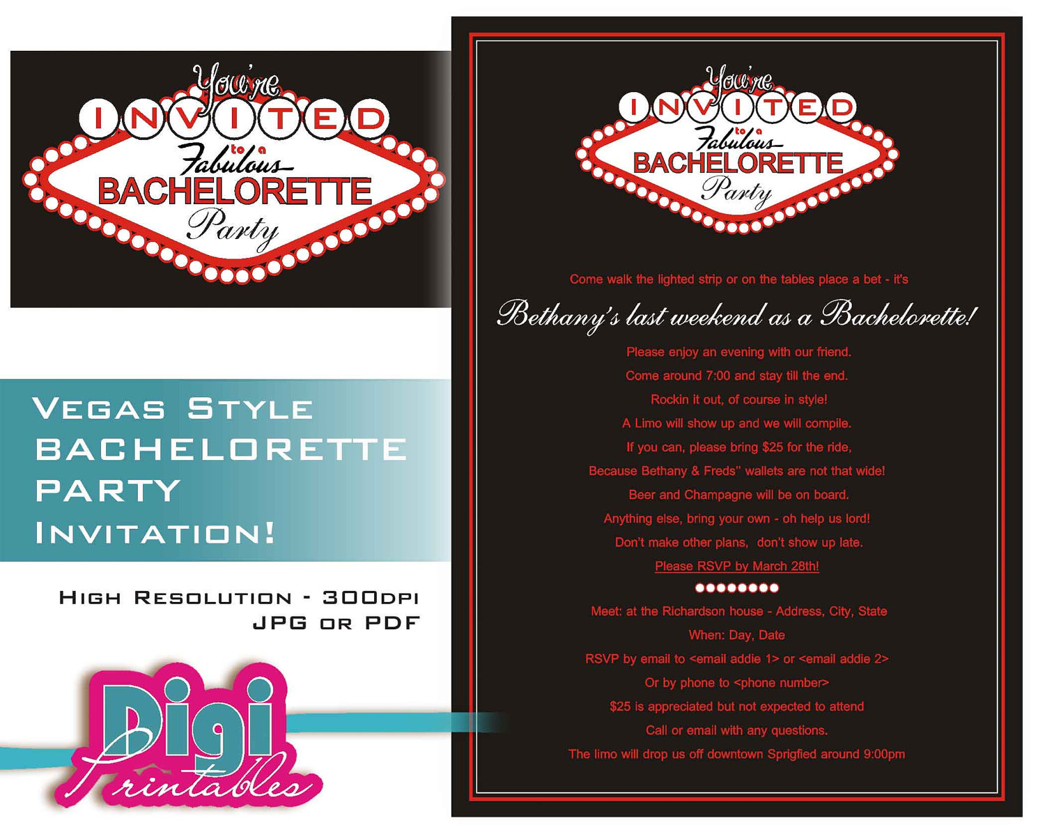 Bachelorette Party Email Invitations Mickey Mouse Invitations