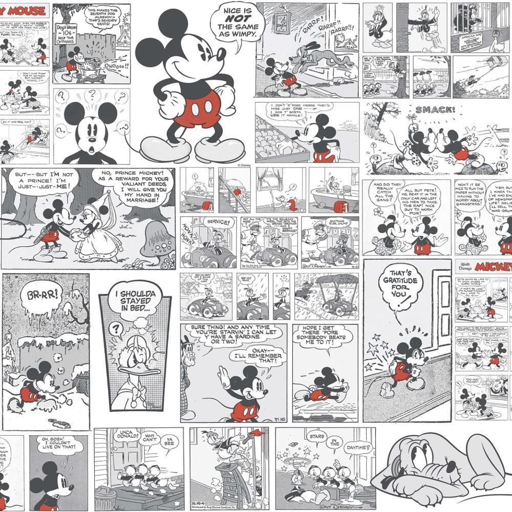 Disney Mickey Minnie Donald Duck Comic Cartoon Childrens Wallpaper