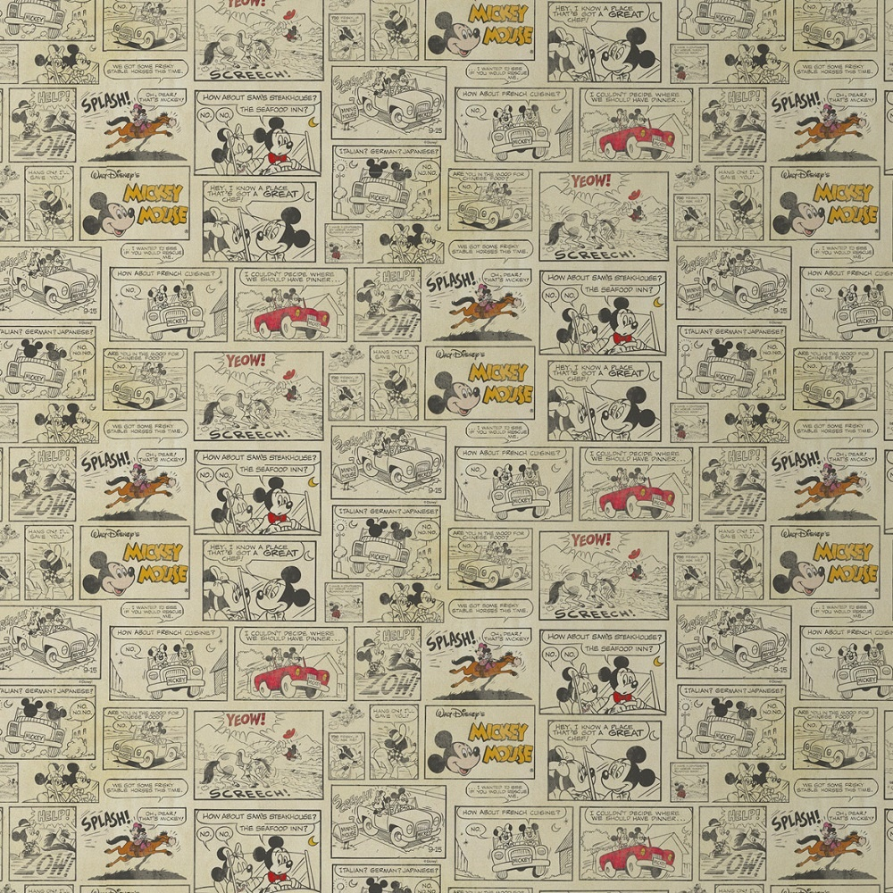 Disney Mickey Mouse Minnie Night Out Comic Strip Wallpaper 70