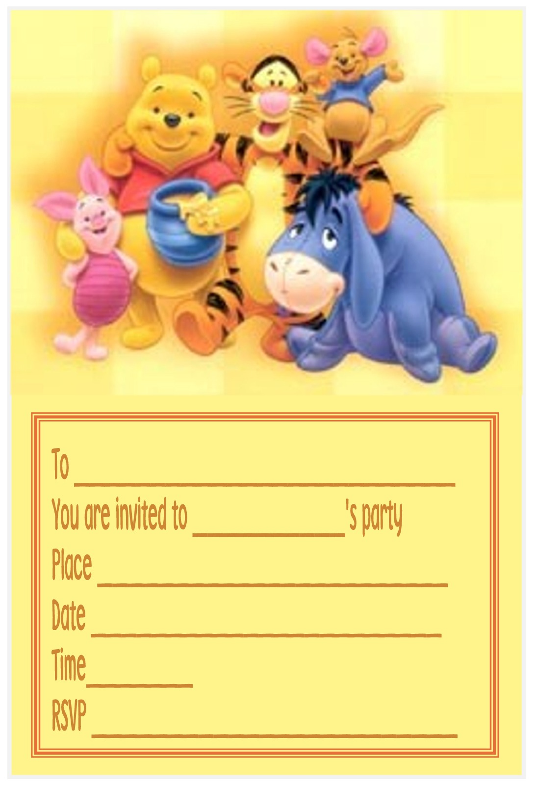 Disney Party Invitations - Mickey Mouse Invitations Templates