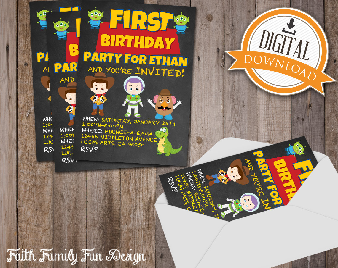 Woody Party Invitations