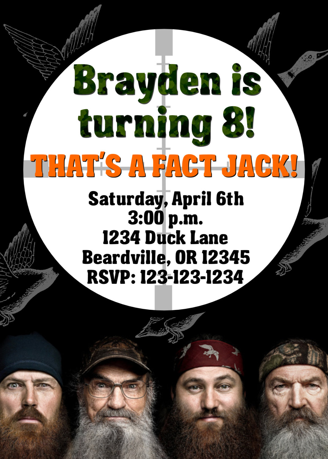 Excellent duck dynasty birthday party invitations pictures duck dynasty birthday party invitations mickey mouse invitations filmwisefo Gallery