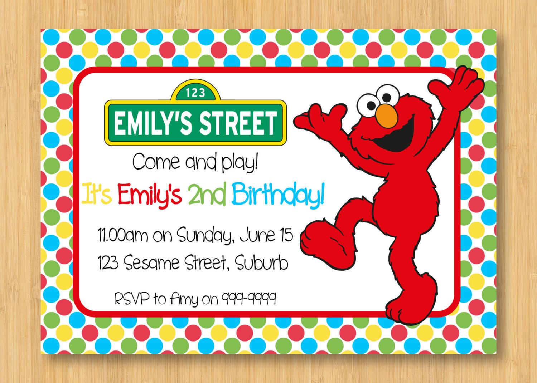 Elmo Birthday Party Invitations – gangcraft.net
