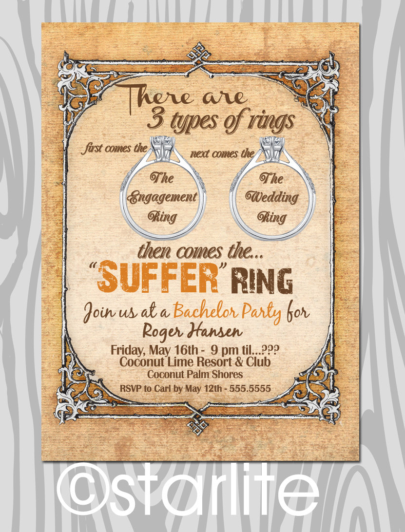 Bachelor Party Invites gangcraftnet – Wording for Bachelor Party Invitations