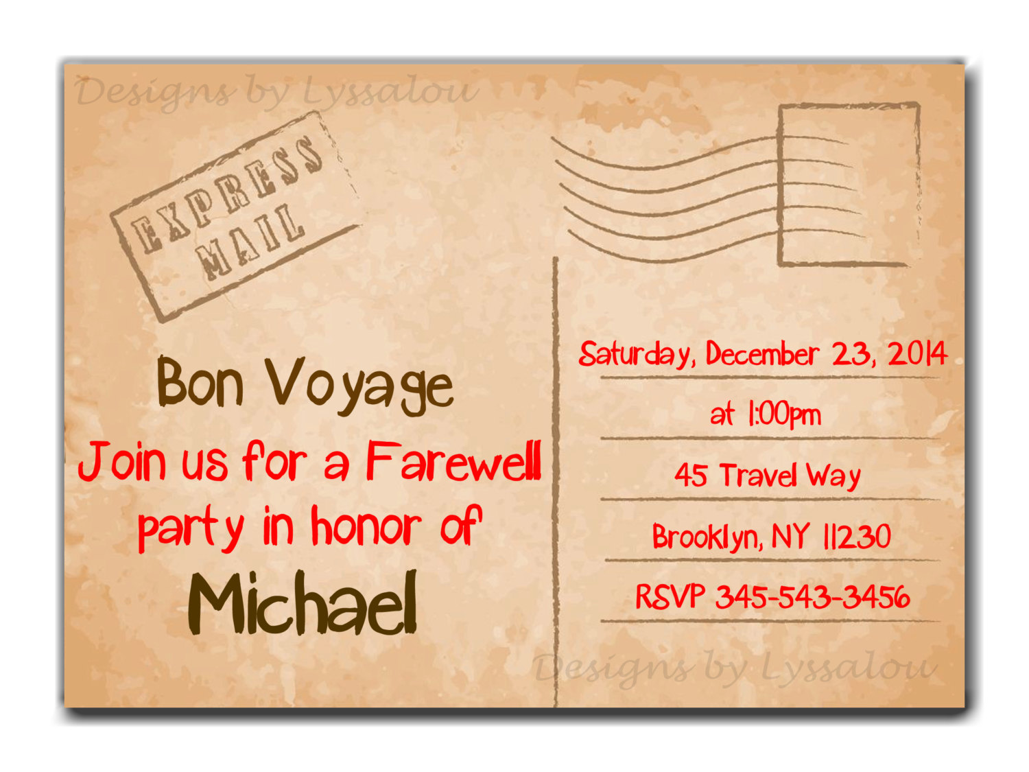 Leaving Party Invitations - Mickey Mouse Invitations Templates