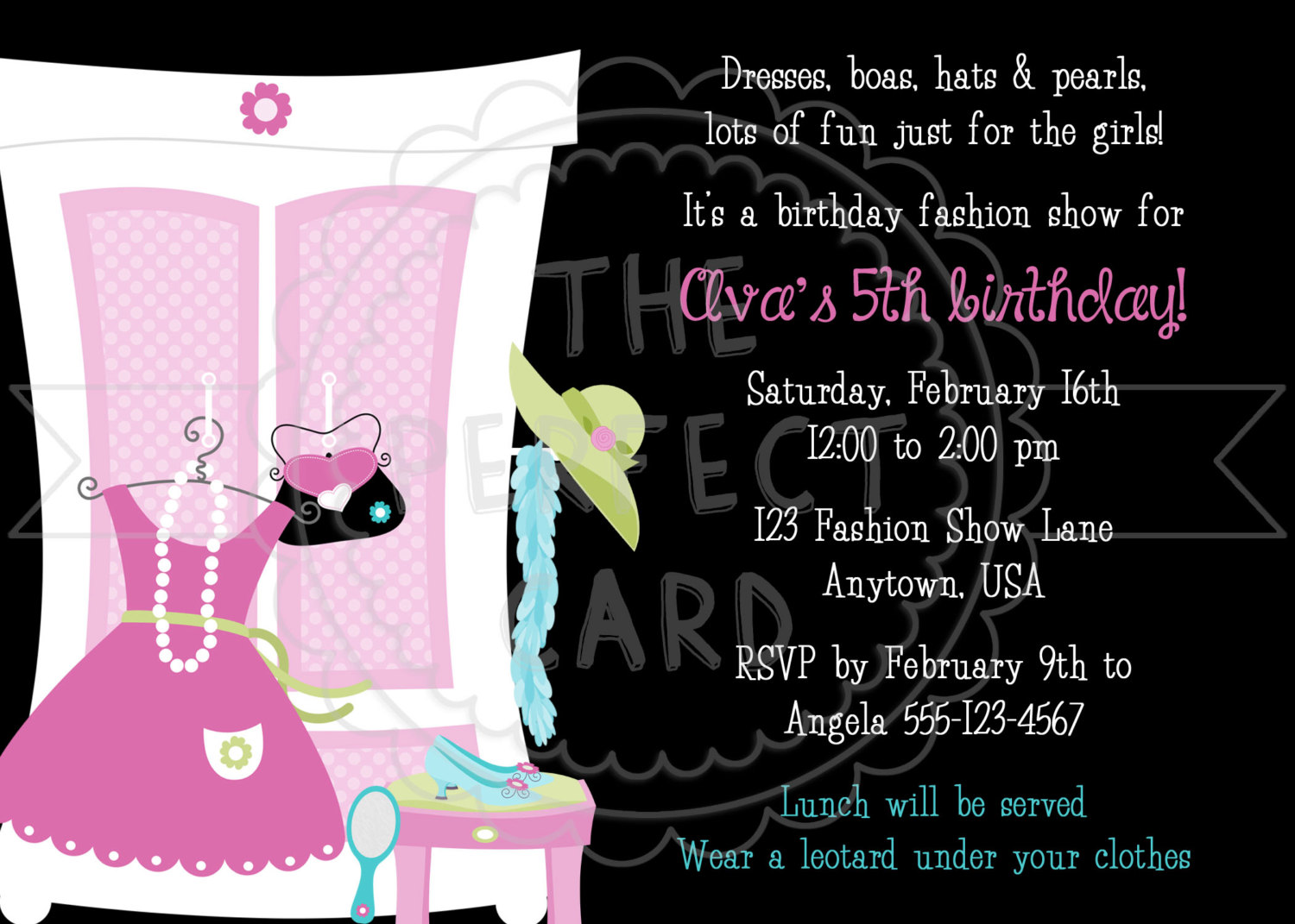 Pion Party Invitation Wording