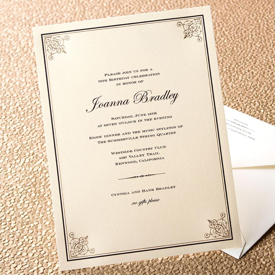 example of dinner invitation