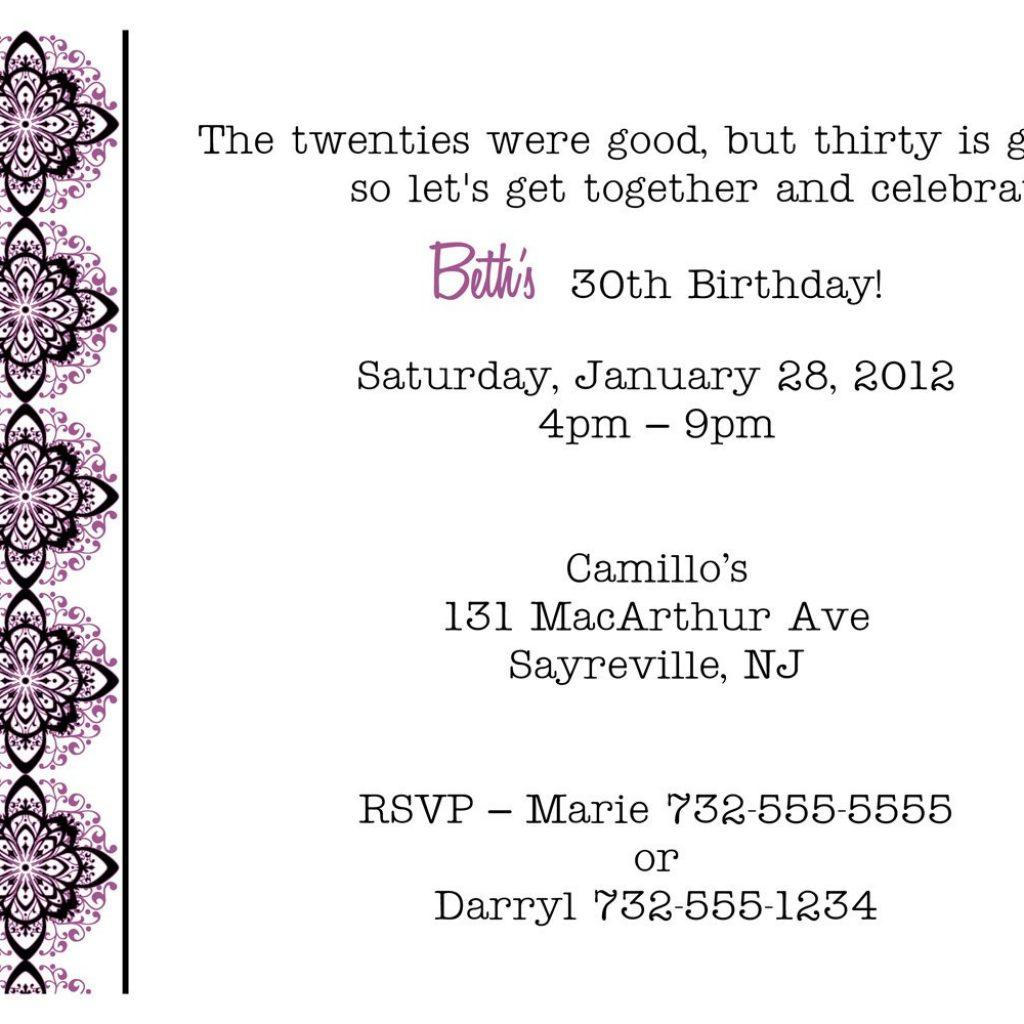Formal Birthday Party Invitation Wording - Mickey Mouse Invitations ...