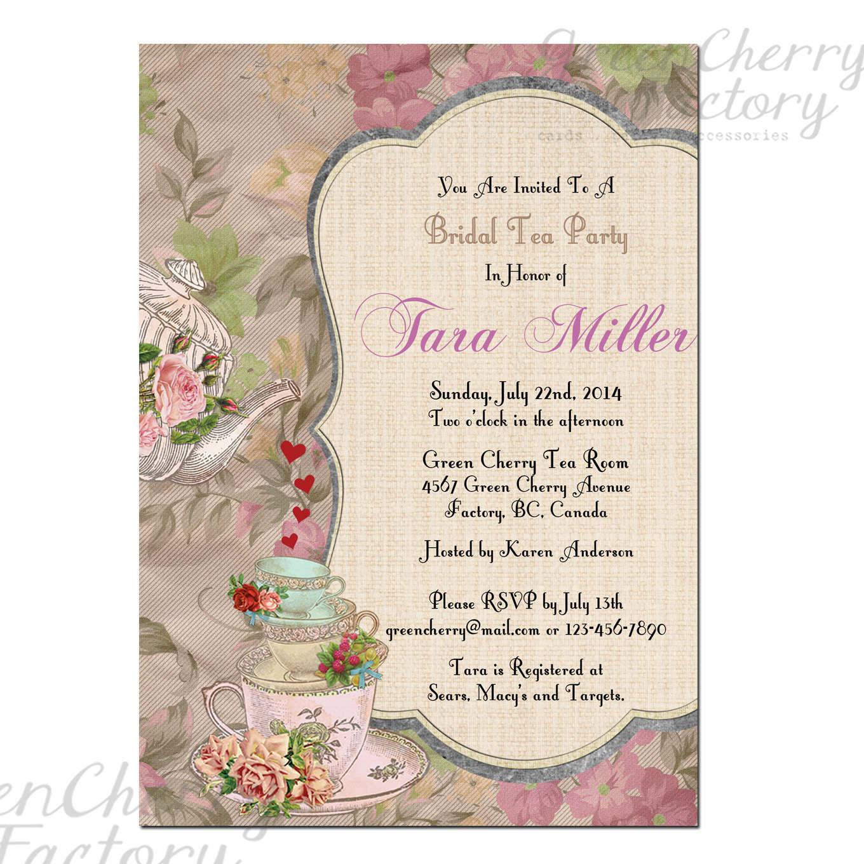 Free Bridal Showertea Party Invitation Templates