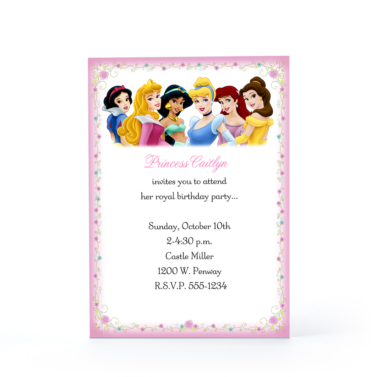 Disney Princess Birthday Invitations gangcraftnet – Disney Photo Birthday Invitations