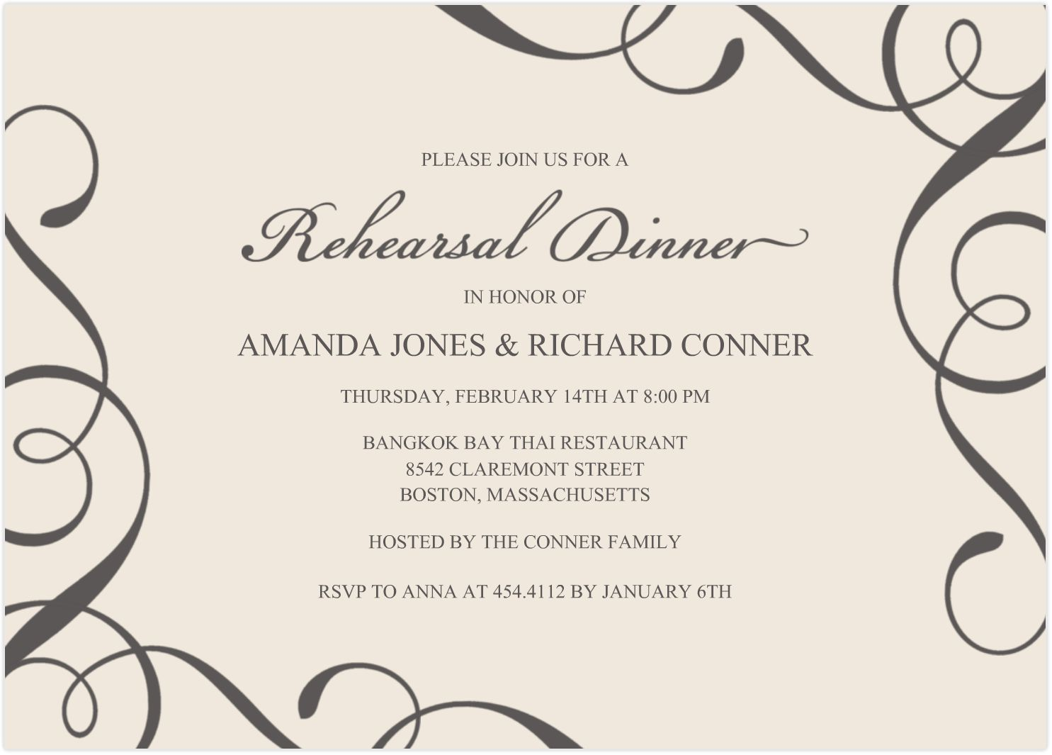 Wedding Invitations Templates Free For Word – Word Templates Invitations