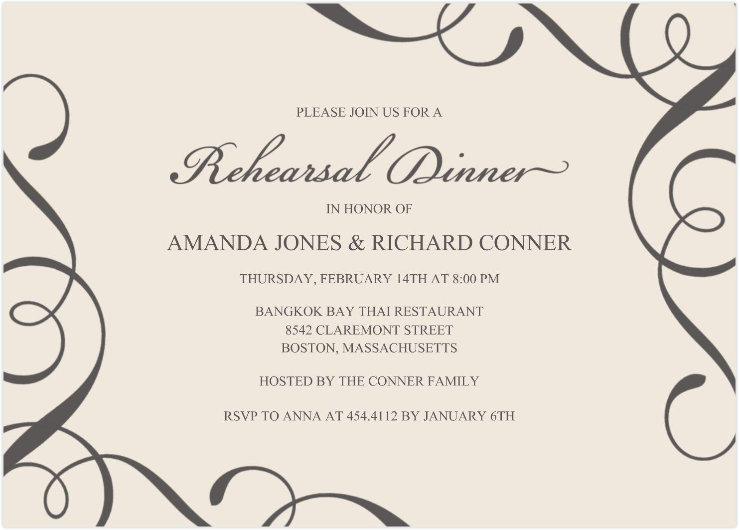 dinner invitation templates free – Dinner Invite Templates