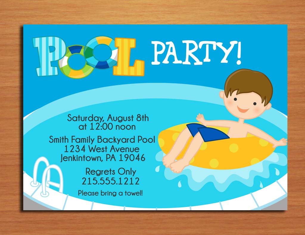 swimming pool birthday party invitation wording custom invitations swimming pool party invitations birthday dresses