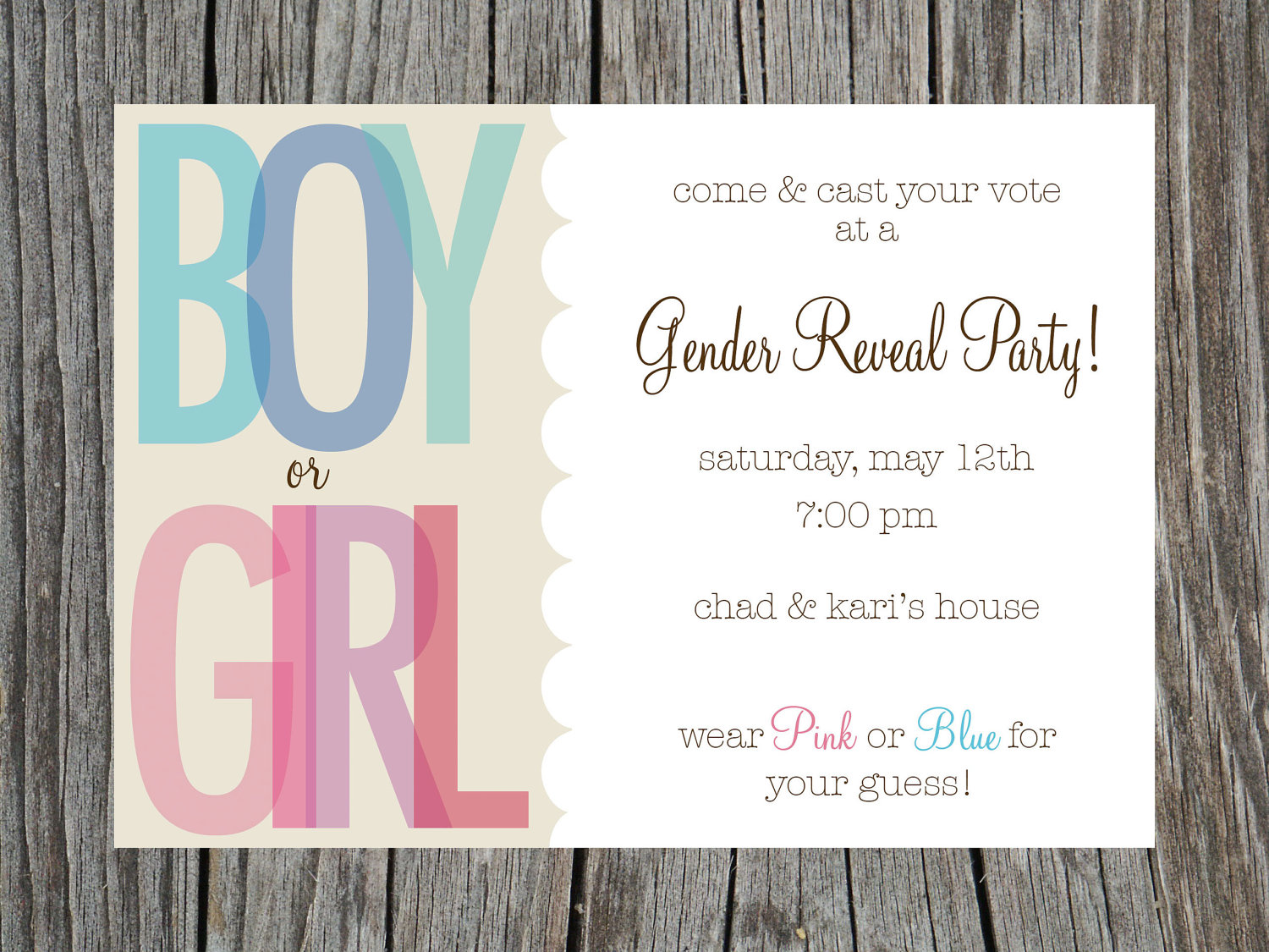Free Printable Gender Reveal Party Invitations